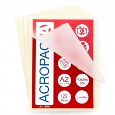 ACROPAQ AP212550 50 pochettes de plastification A2 125 Microns Transparent Brilliantes