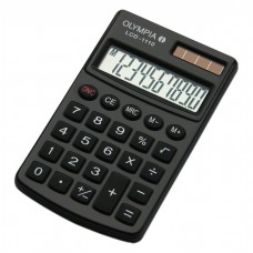 Calculatrice de poche Double alimentation Noir