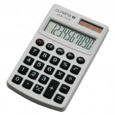 OLYMPIA LCD1110W - Calculatrice 10 chiffres Double Alimentation Blanc